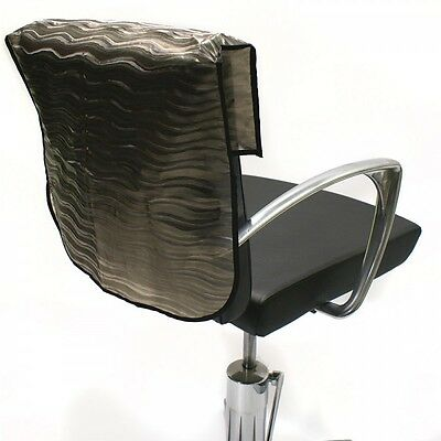 "Professional Hairdressing Semi Opaque Chair Back Covers Black 18"" 20"" 22"""
