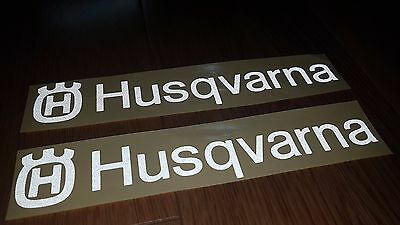 Husqvarna sticker  - 2 pcs.  decal  sticker on car - REFLECTIVE  -