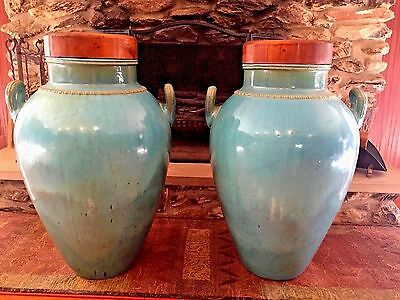 "Antique Vases Urns Massive 36"" Tall Bauer Galloway? Art Deco Upper Mi Mansion"