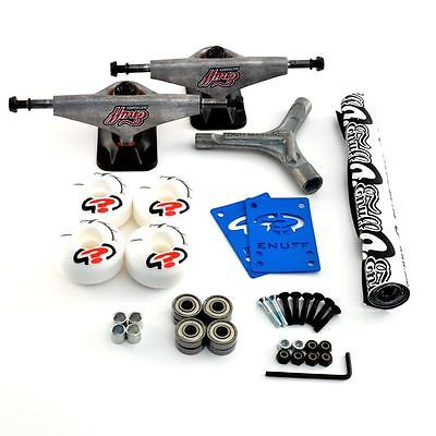 Enuff Undercarriage Skateboard Kit Trucks, Wheels, ABEC5 Bearings - Raw Trucks