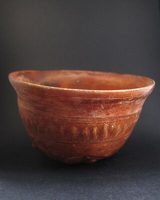 Rare ancient Greek Megarian decorated terracotta bowl
