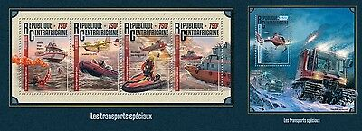 Z08 IMPERFORATED CA16212ab CENTRAL AFRICA 2016 Special transport MNH Set