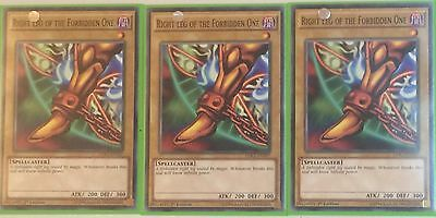 3 X Ldk2-Eny07 Right Leg Of The Forbidden One 1St Ed Playset