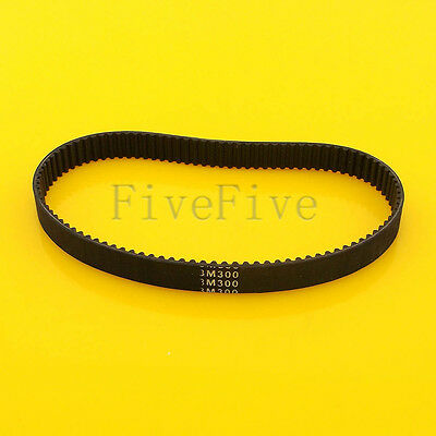 HTD3M-300 Synchronous Wheel Timing Belt 10/15/20mm Width 3mm Pitch 100 Teeth