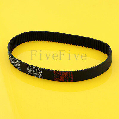 HTD3M-375 Synchronous Wheel Timing Belt 10/15/20mm Width 3mm Pitch 125 Teeth