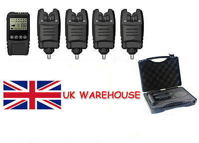Wireless Bite Alarm Set + Touch Receiver With Box Carp Fishing LED Waterproof