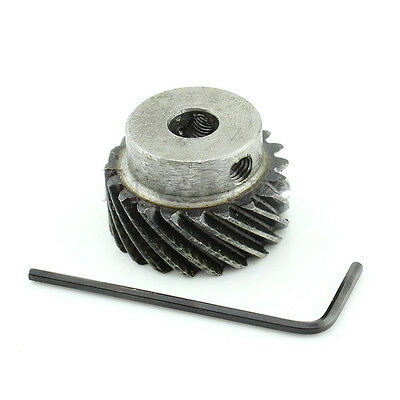 1M 20T Φ8 Steel Helical Bevel Wheel Motor Gear Pinion Large Torque 90° Gearing