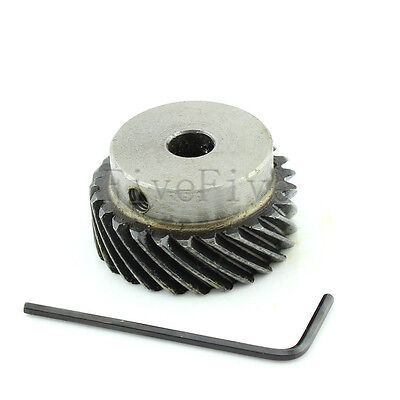 1M 25T Φ8 Steel Helical Bevel Wheel Motor Gear Pinion Large Torque 90° Gearing