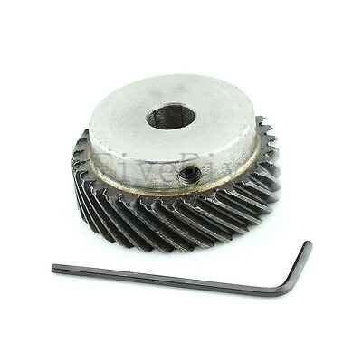 1M 30T Φ8 Steel Helical Bevel Wheel Motor Gear Pinion Large Torque 90° Gearing