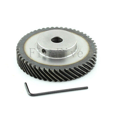 1M 40T Φ8 Steel Helical Bevel Wheel Motor Gear Pinion Large Torque 90° Gearing