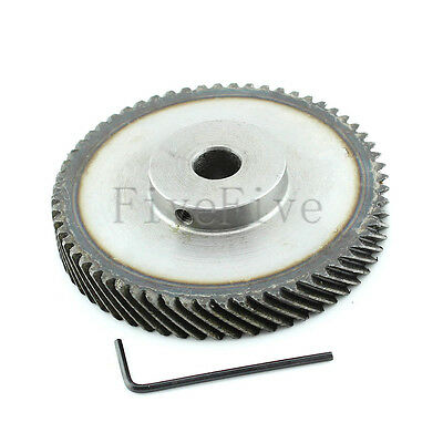 1M 60T Φ8 Steel Helical Bevel Wheel Motor Gear Pinion Large Torque 90° Gearing