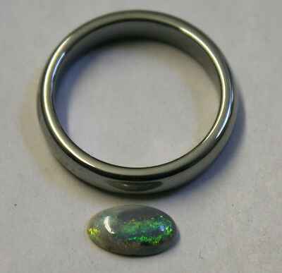 Natural Loose Australian Opal Gemstone 0.8Ct Cabochon Aa 5X9Mm Oval Gem Op28