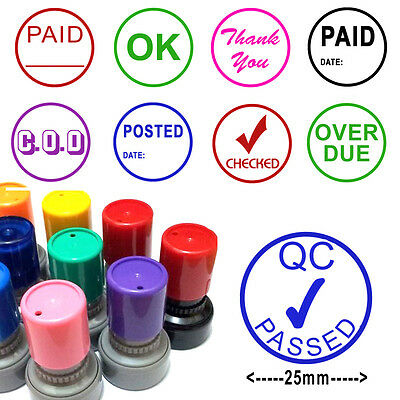 65x43mm Heavy Duty Custom Rubber Stamp Self Inking Metal /& High Impact