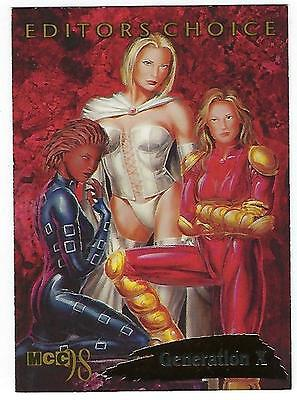 1998 Marvel trading cards EDITORS CHOICE Card #6 of 12 GENERATION X.