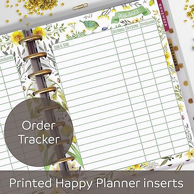 Order Tracker, Delivery Tracking, Inserts for Classic MAMBI Happy Planner