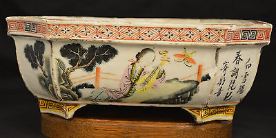 Antique  Chinese oriental plant pot -V034 b