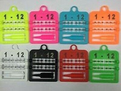 12 X Numbered Split Rings For Canaries 3Mm With Applicator - Various Colours