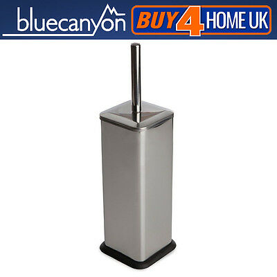 Blue Canyon Stainless Steel Square Toilet Brush Holder and Brush