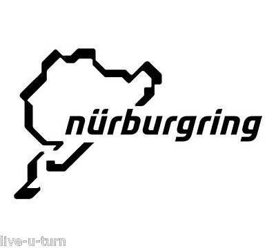 Sticker Autocollant NÜRBURGRING - Vinyl brillant couleur au choix