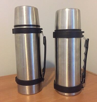 Vintage Thermos Lot 2 Stainless Steel
