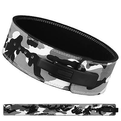 BS Weight Power Lifting Leather Lever Pro Belt Gym Training Powerlifting Camo