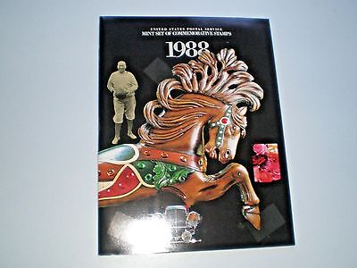1988 USPS Mint Set Commemorative Stamps - Album
