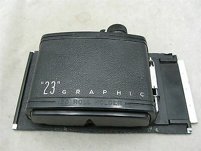 Graflex Graphic 23 120 Roll Film Back Works BEING SOLD FOR PARTS OR REPAIR