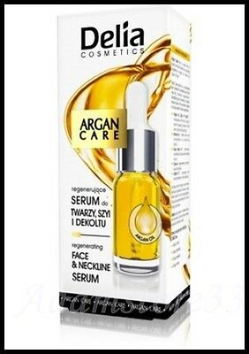 Delia Argan Oil Serum 10ml - Regenerating Natural Face&Neckline Care with Argan