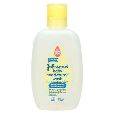 Johnson's Baby Head To Toe Wash, No More Tears Gentle Cleanser - 3 oz
