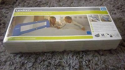 Rarely used Lindam Easy Fit Bed Guard (Blue)