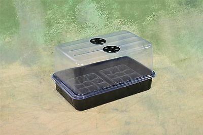 """Plant Propagation Cloning Kit: Humidity Dome, tray and inserts! 15"""" x 9"""" x 8"""""""