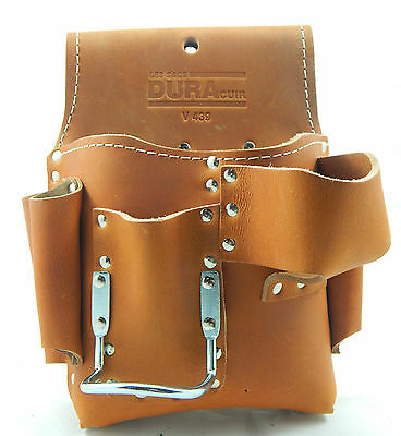 DURACUIR Construction Drywall Leather Tool Pouch Bag Occidental Carpenter
