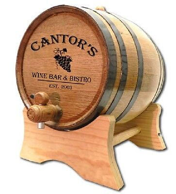 Wine Bar & Bistro Personalized White Oak Wood Barrel For Aging Wine & Whiskey