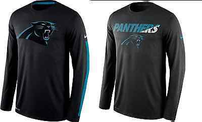 5810da798 Nike LEGENDS or Staff Practice Dri-FIT NFL Carolina PANTHERS Long Sleeve T- shirt