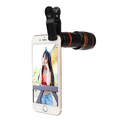 HD 12x Zoom Telephoto Telescope Camera Lens for Universal iPhone 6S Mobile Phone
