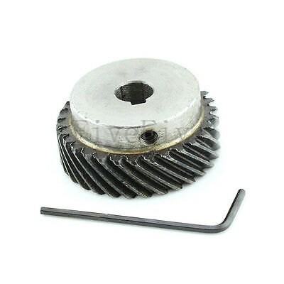 1M 30T 10mm/12mm Bore Module Metal Spiral Bevel Wheel Motor Gear 90° Gearing