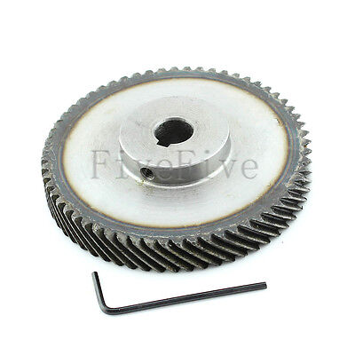 1M 50T 10mm/12mm Bore Module Metal Spiral Bevel Wheel Motor Gear 90° Gearing