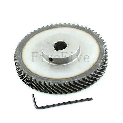 1M 60T 10mm/12mm Bore Module Metal Spiral Bevel Wheel Motor Gear 90° Gearing