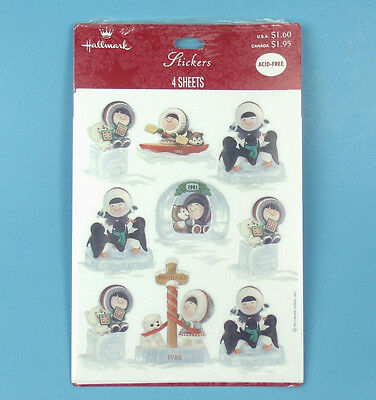 Hallmark FROSTY FRIENDS Christmas Ornament Series STICKERS