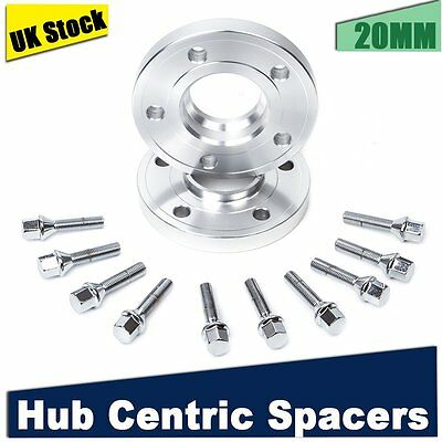 2pcs 20mm Spacers 5x 120 Hub Centric Wheel Spacer Kit for BMW E60 E61 E90 E91
