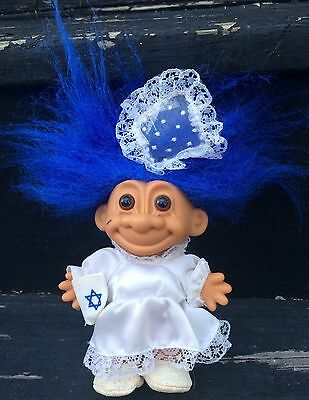 Russ Troll Doll 4 1 2 Jewish Wedding Party Bride Blue Hair
