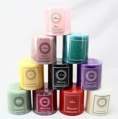 30Hrs/60Hrs/90Hrs Scented Pillar Candle Gift 10 Scents Available
