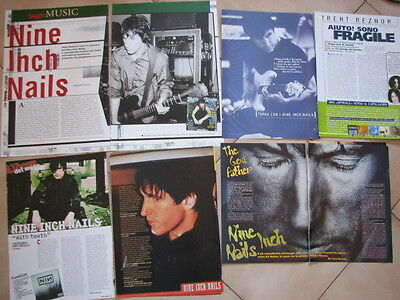 NINE INCH NAILS 22 ITALIAN MAGAZINE CLIPPINGS POSTER PINUPS trent reznor