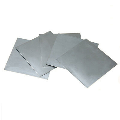 5Pcs Pure Zinc High Purity Zn Sheet Plate Metal Foil 100mmx100mmx0.5mm For Lab