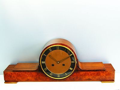 Rare Beautiful Art Deco Kienzle Chiming Mantel Clock  With Pendulum