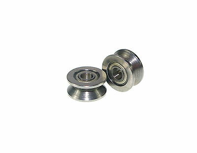 4x13x6mm  4mm V Groove width 4mm Guide Pulley Sealed Rail Ball Bearing   x1