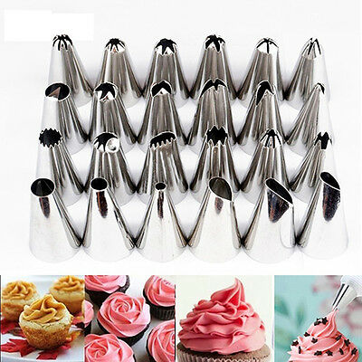 24Style Cupcake Decorating Mould Icing Piping Flower Nozzles Pastry Tips Opulent