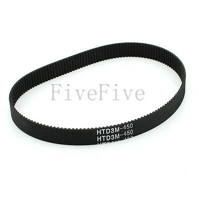 HTD3M-450 Synchronous Wheel Timing Belt 10/15/20mm Width 3mm Pitch 150 Teeth