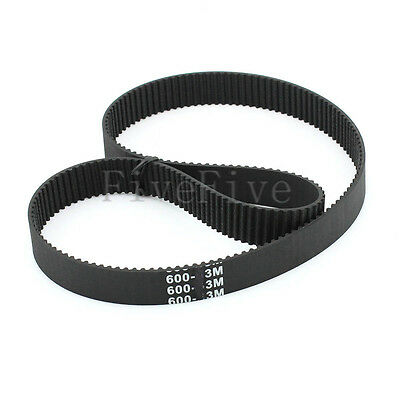 HTD3M-600 Synchronous Wheel Timing Belt 10/15/20mm Width 3mm Pitch 200 Teeth