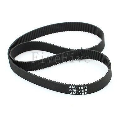 HTD3M-750 Synchronous Wheel Timing Belt 10mm 15mm Width 3mm Pitch 250 Teeth